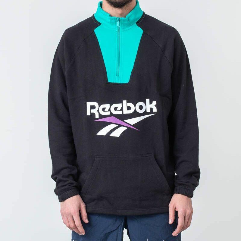 Reebok Classic Vector 1/4 Zip Hoodie Black M