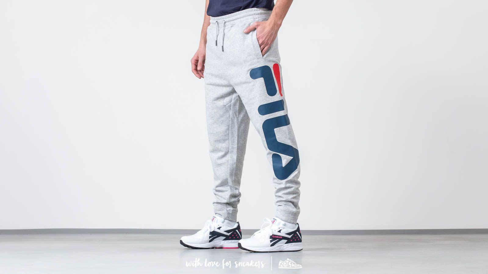 Džíny a kalhoty FILA Pure Basic Pants Light Grey