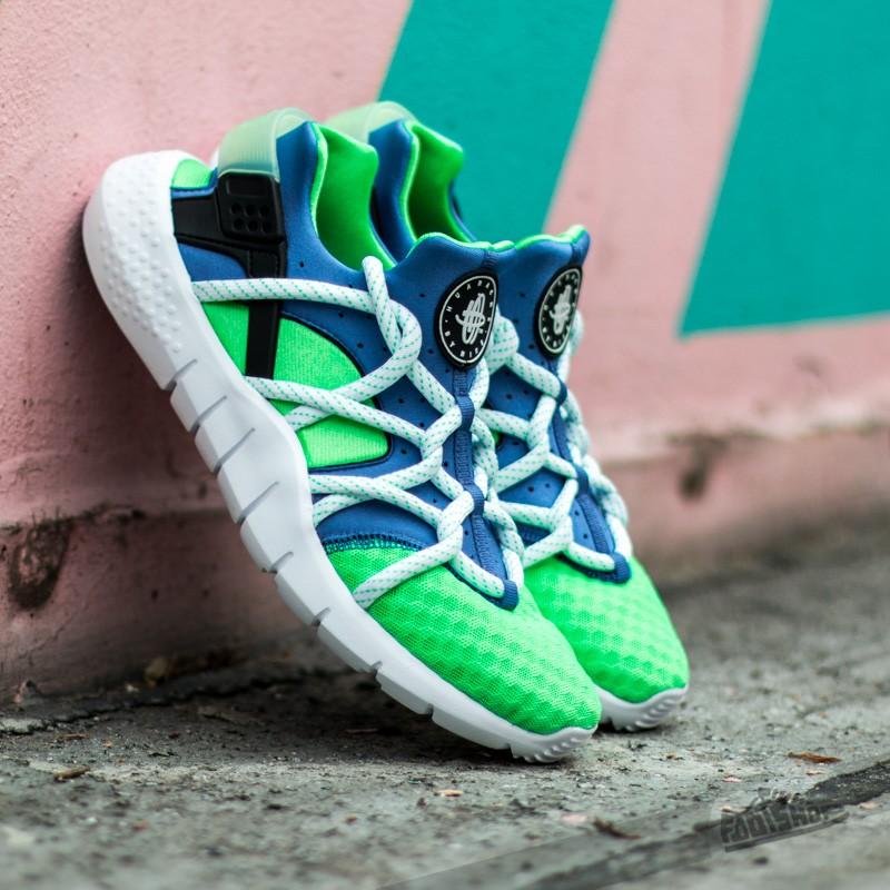 a71243c8f306a9 Nike Huarache NM Poison Green  White-Royal