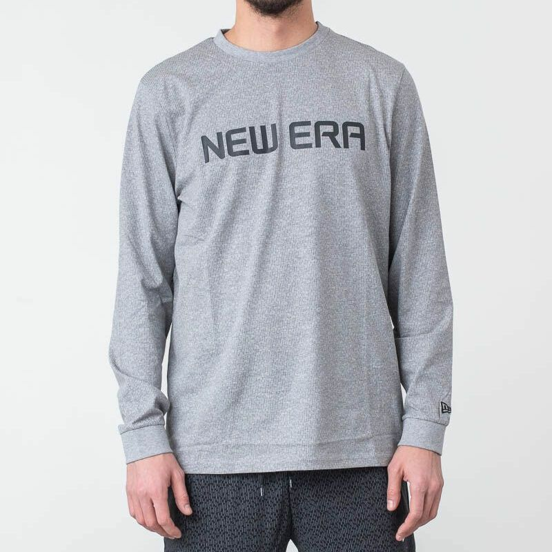 New Era Rain Camo Longsleeve Tee Light Grey Heather, Gray