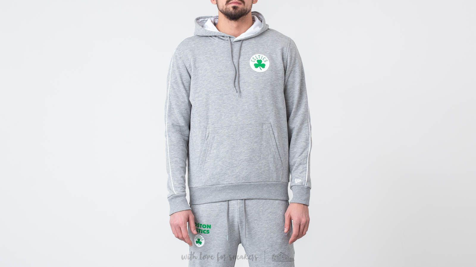 New Era Boston Celtics Stripe Piping Pullover Hoodie