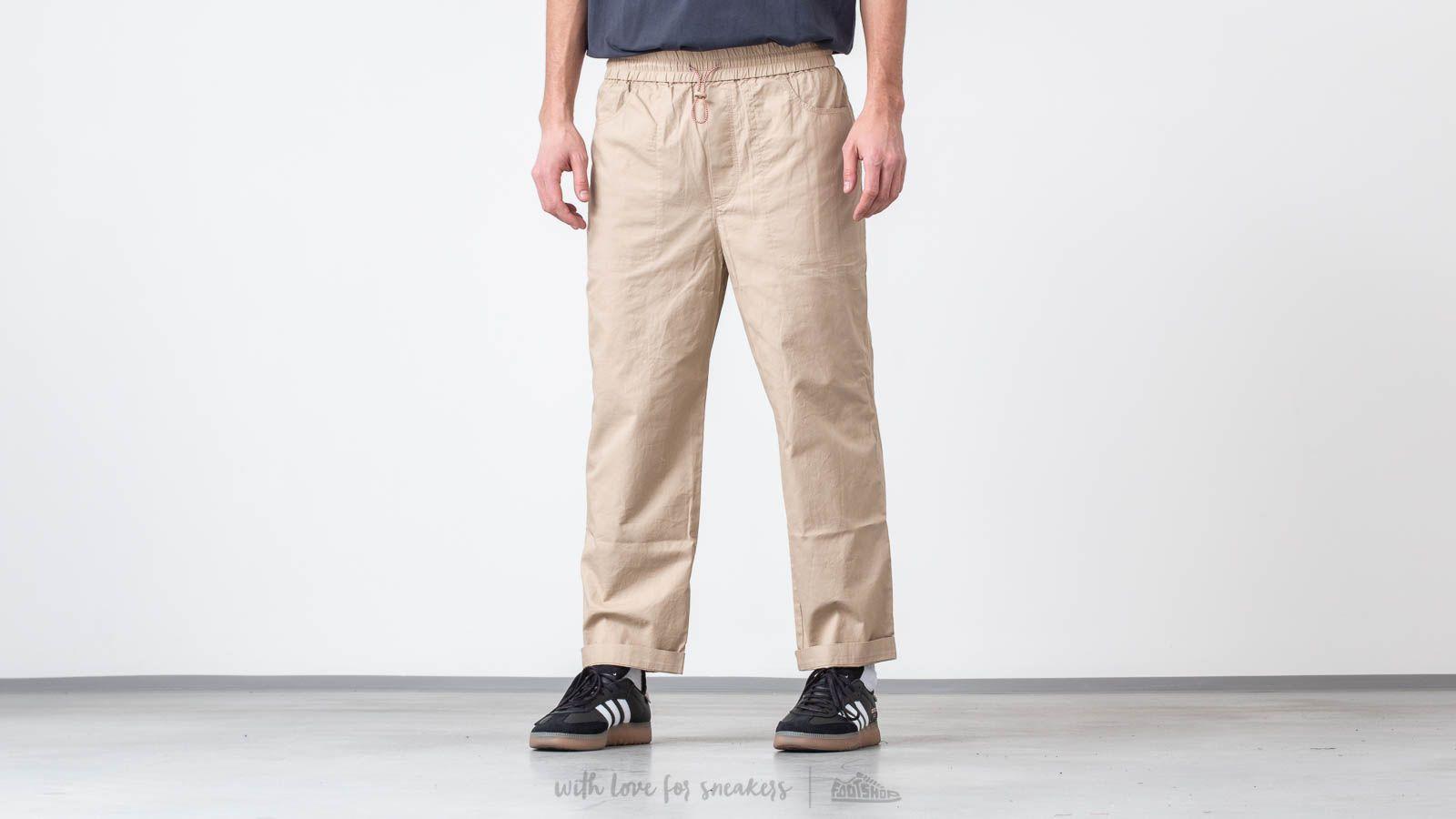 Platnene hlače WOOD WOOD Buzz Trousers Light Khaki