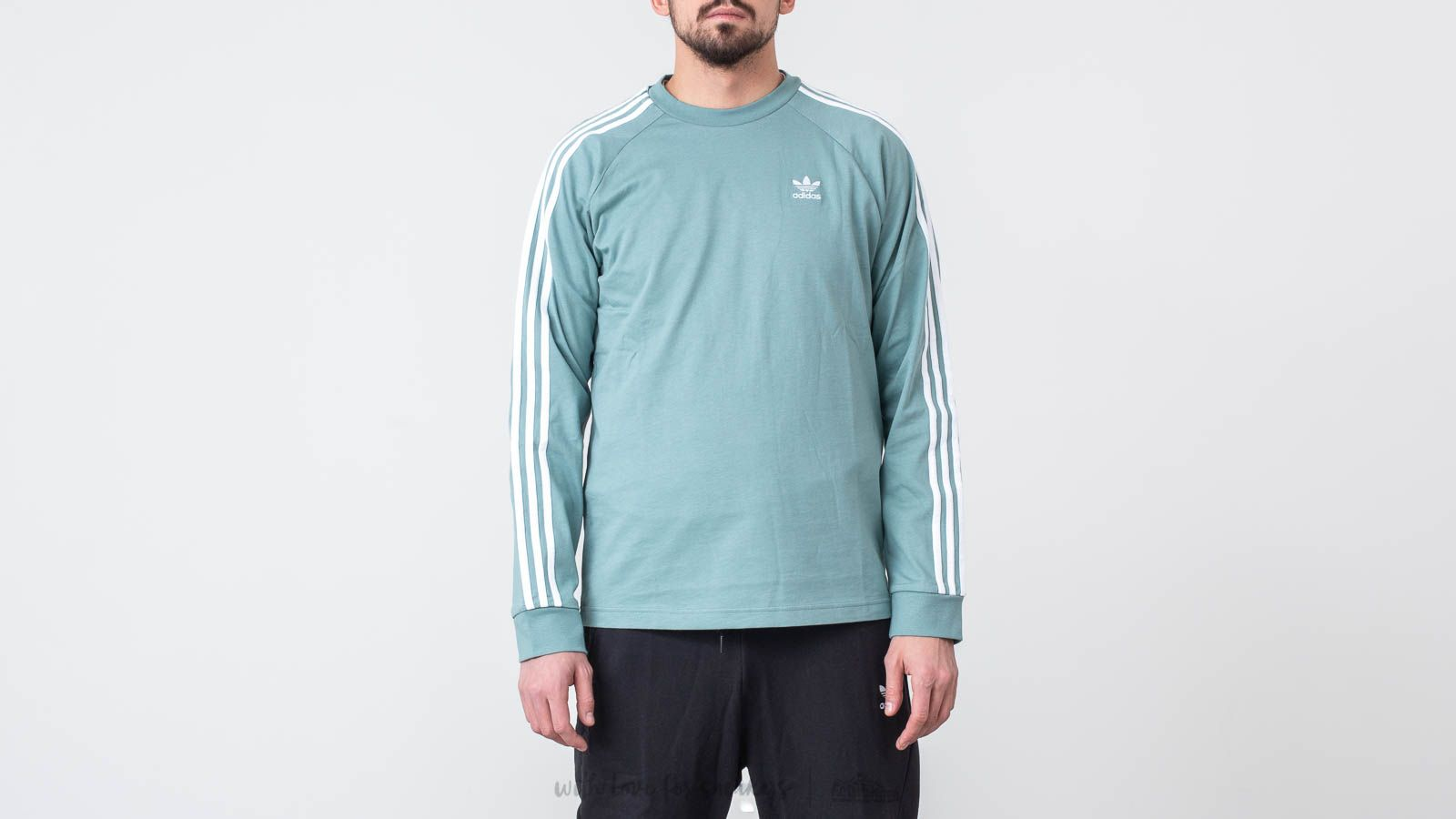 adidas 3-Stripes Longsleeves Tee Vapour Steel | Footshop