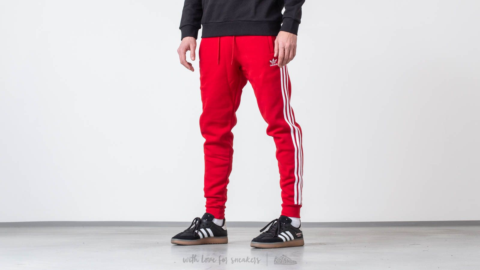 adidas pants red stripes