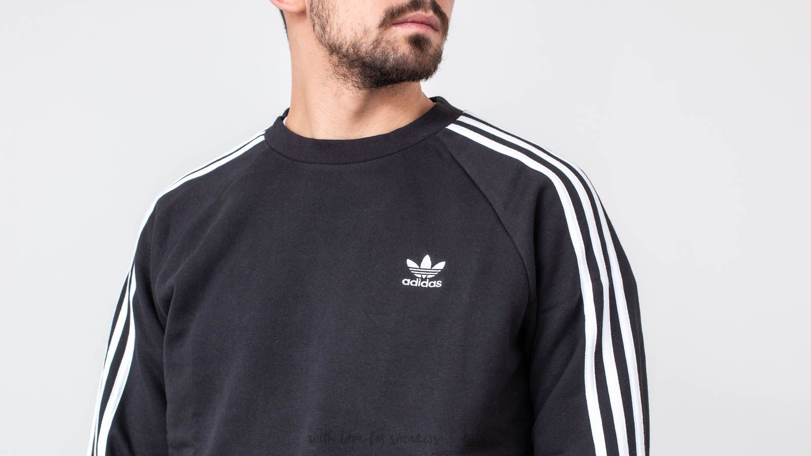 adidas Originals 3 Stripes CrewneckBlack