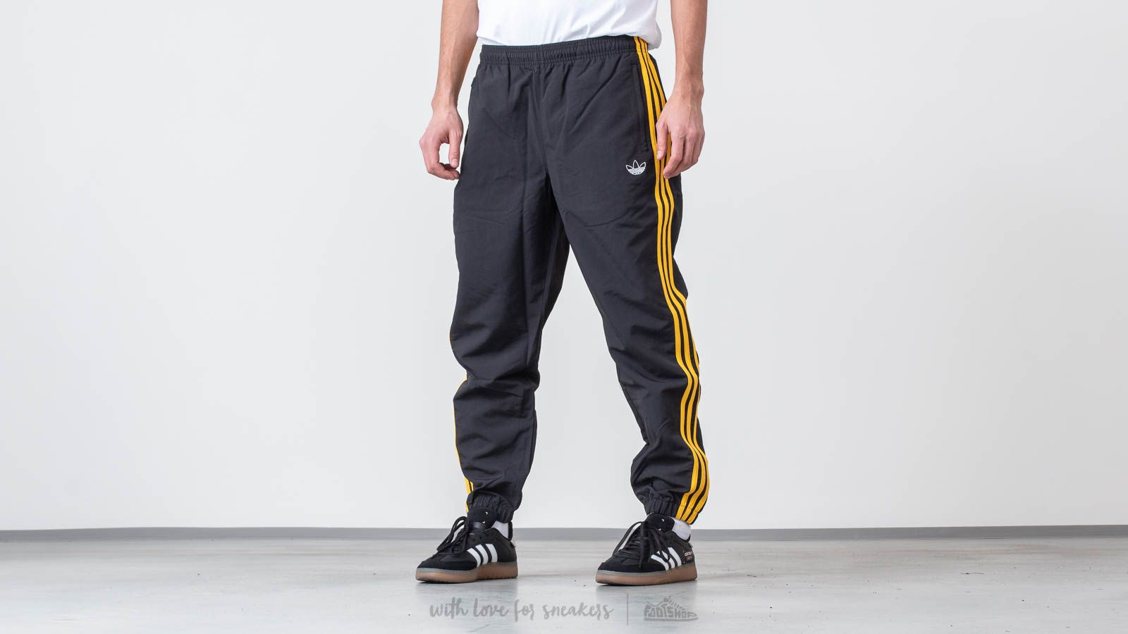 3f08fefc adidas Originals Woven 3-Stripes Pants Black/ Bold Gold | Footshop