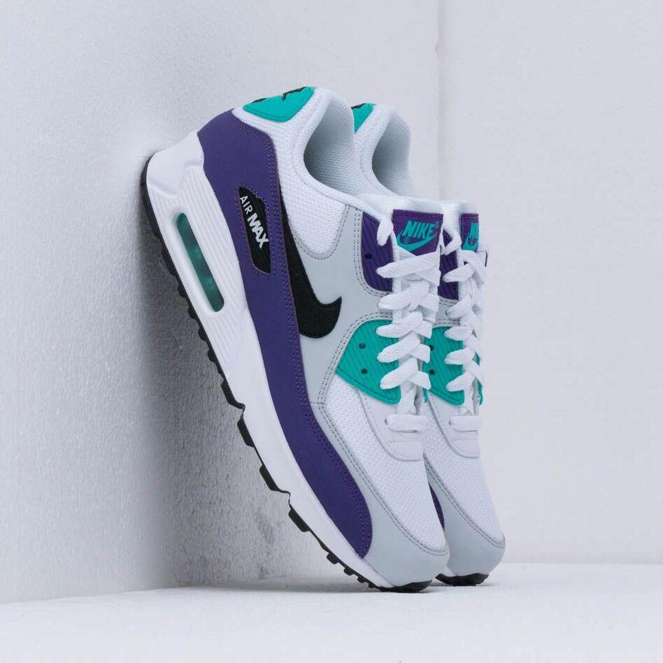 Nike Air Max 90 Essential White/ Black-Hyper Jade-Court Purple EUR 44.5