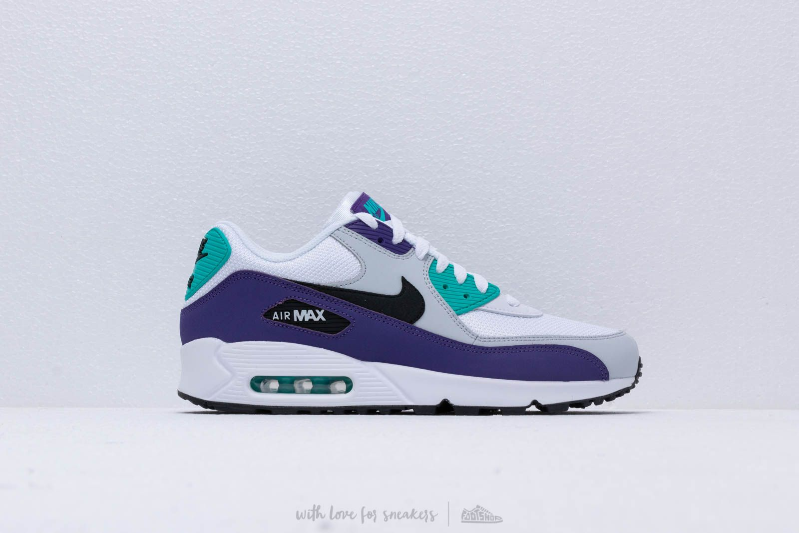 2c57e9f4092 Nike Air Max 90 Essential White  Black-Hyper Jade-Court Purple at a