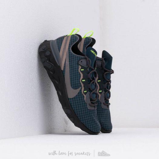 nowy wygląd autentyczna jakość produkty wysokiej jakości Nike React Element 55 Armory Navy/ Mtlc Dark Grey-Volt ...