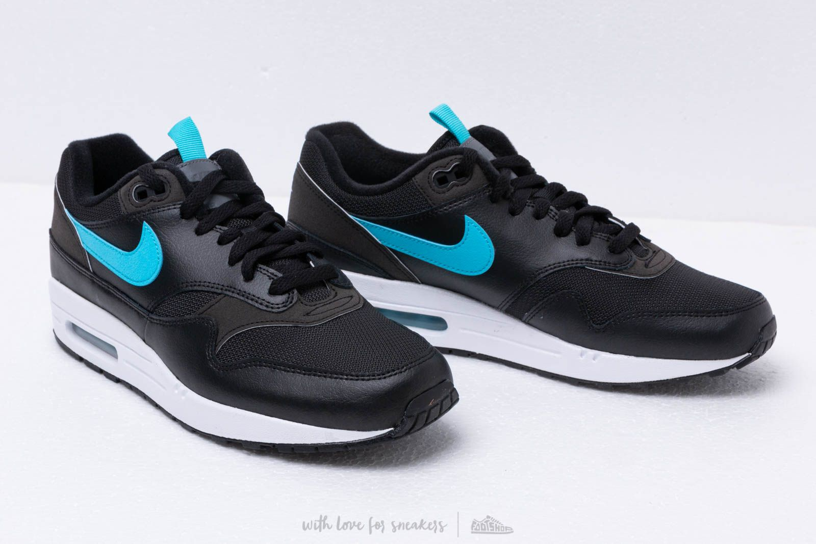 salida Independiente diseño  Men's shoes Nike Air Max 1 Se Black/ Blue Fury