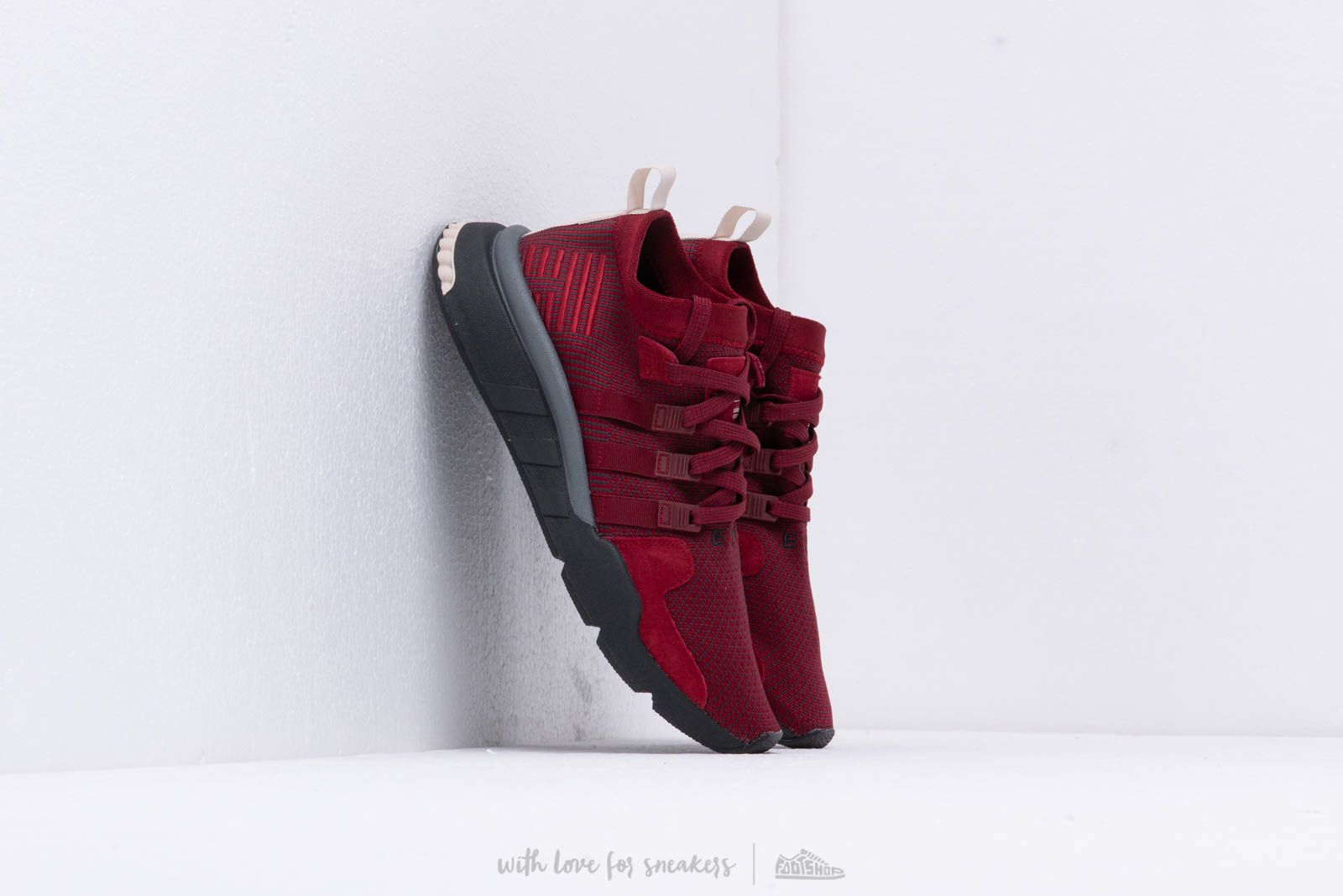 adidas Eqt Support Mid Adv Cburgundy/ Carbon/ Cream Brown