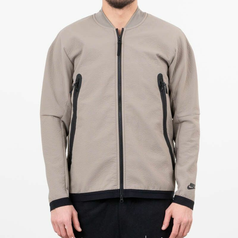 Nike Sportswear Tech Pack Woven Track Jacket Light Taupe/ Newsprint/ Black, Brown