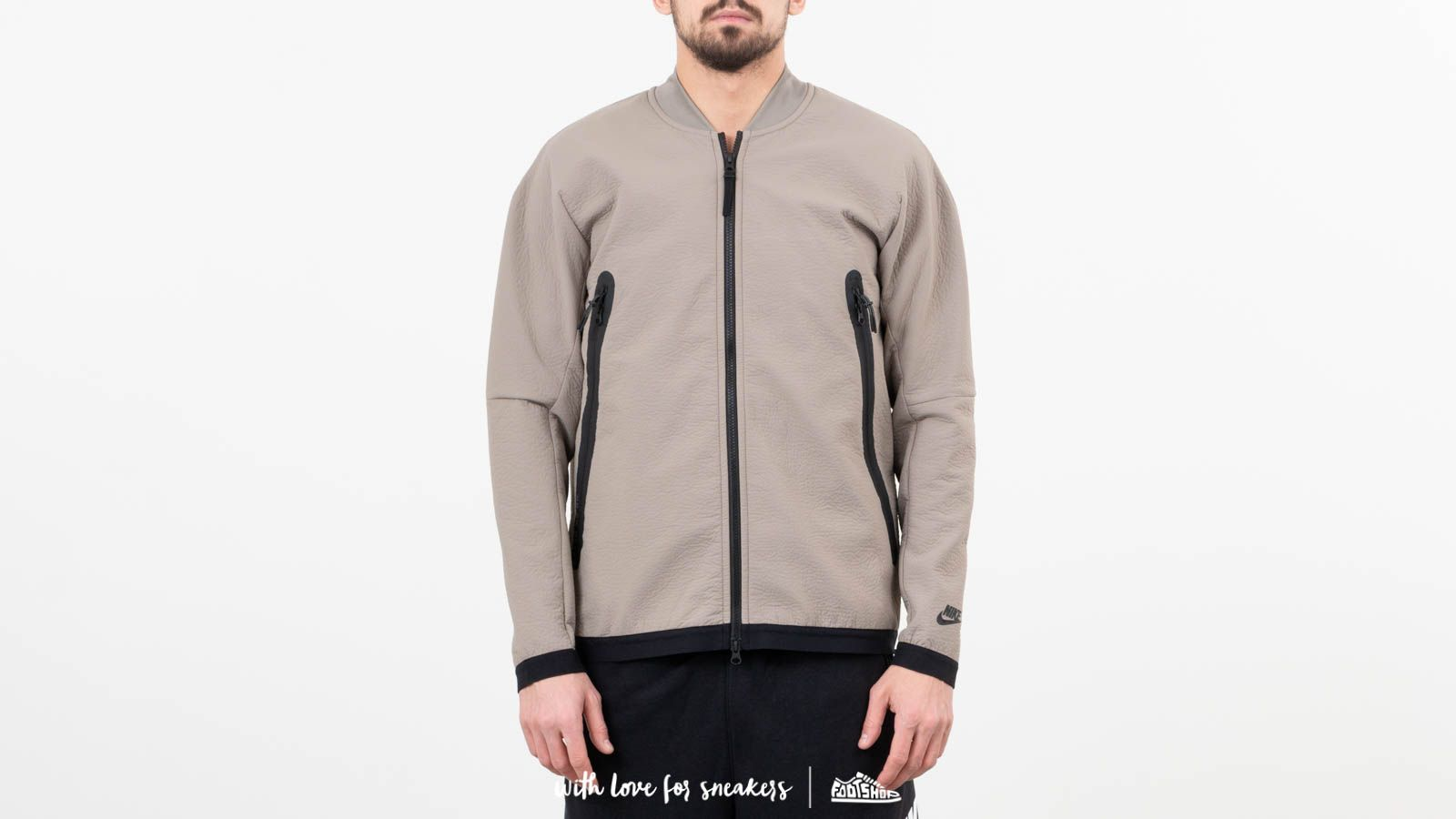 Nike Sportswear Tech Pack Woven Track Jacket Light Taupe/ Newsprint/ Black at a great price 144 лв купете в Footshop