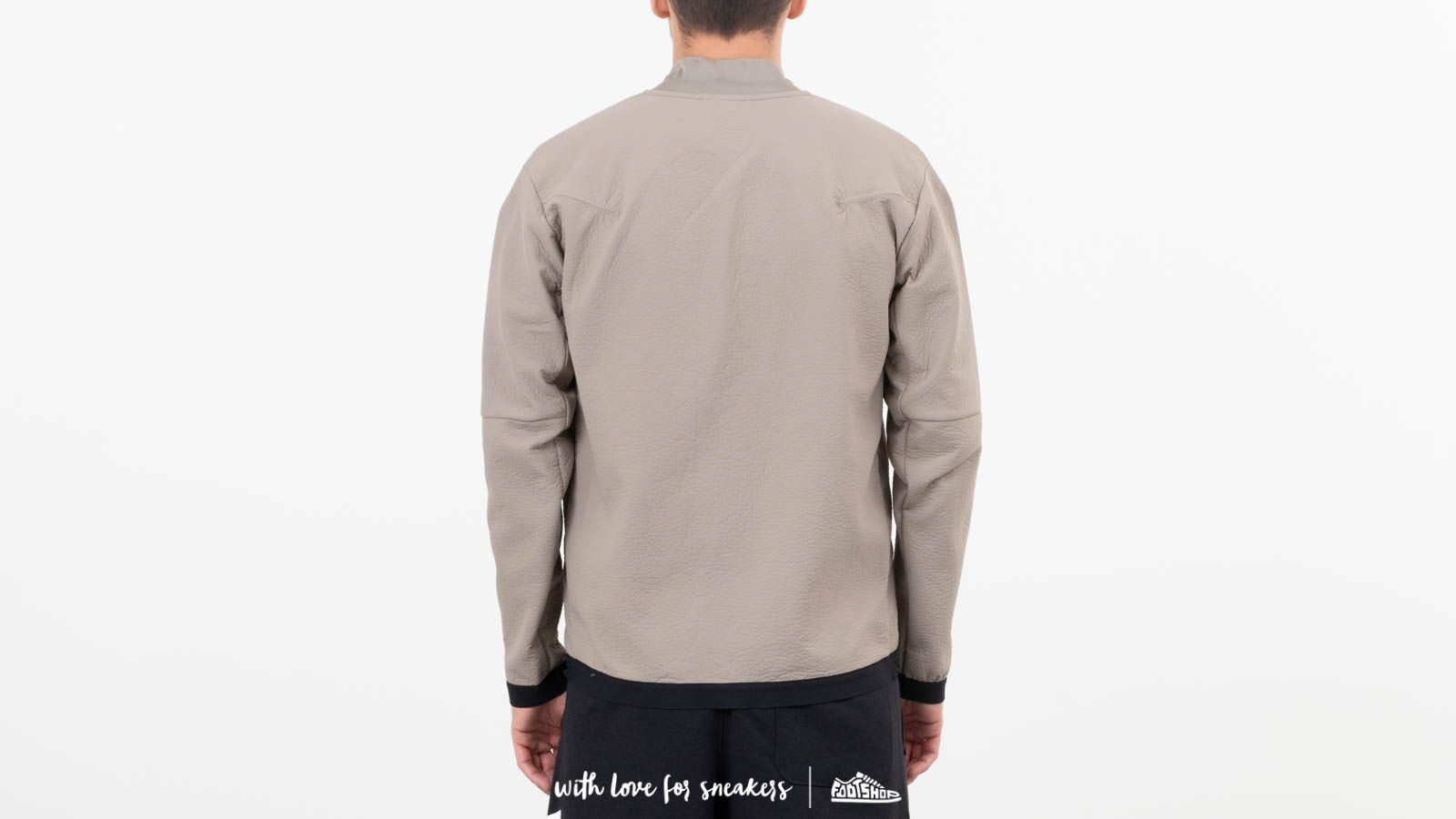 f7d5cce88fe4 Nike Sportswear Tech Pack Woven Track Jacket Light Taupe  Newsprint  Black  at a great