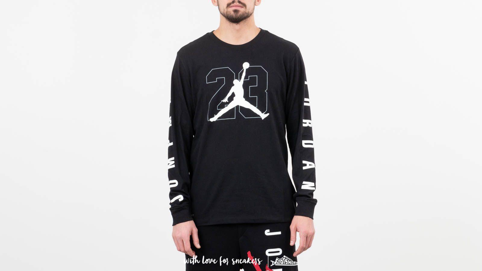 b948ad0aa2 Jordan Air Jumpman 23 Longsleeve Tee Black   Footshop