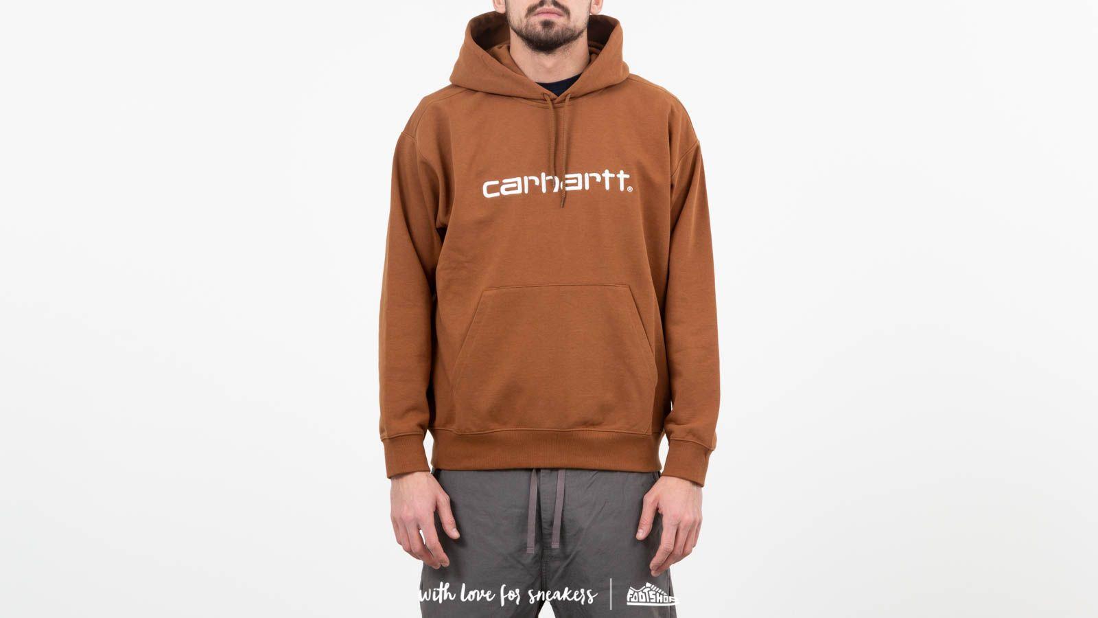 Carhartt WIP Hooded Sweat Hamilton Brown/ White za skvelú cenu 84 € kúpite na Footshop.sk