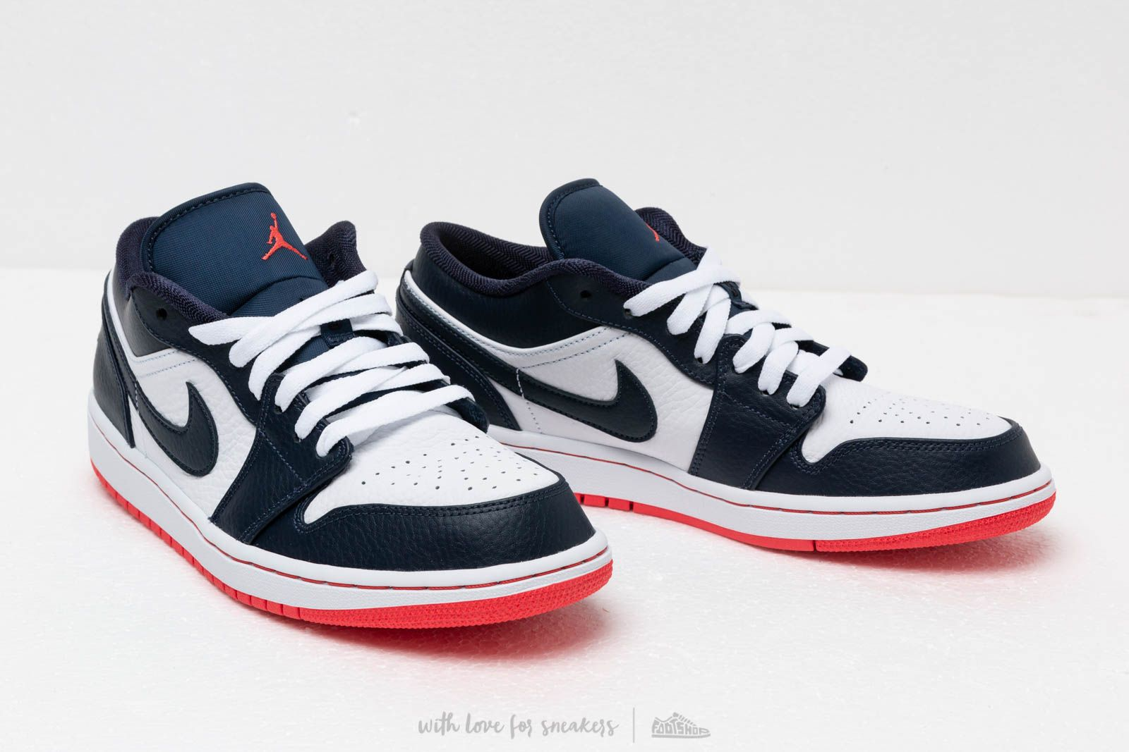 new product 100% genuine hot products Air Jordan 1 Low Obsidian/ Ember Glow-White | Footshop