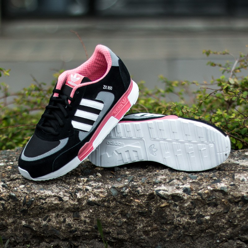 brand new 2a45e a0843 adidas ZX 850 K Black/White/Pink | Footshop