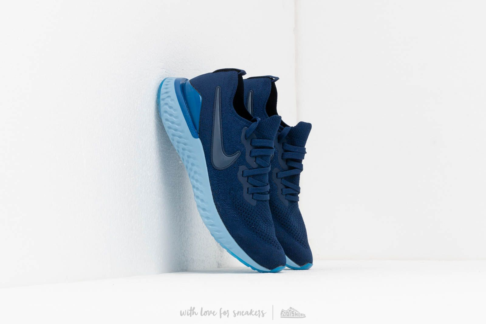 Nike Epic React Flyknit 2 Blue Void/ Blue Void-Indigo Force-Black at a great price 139 € buy at Footshop