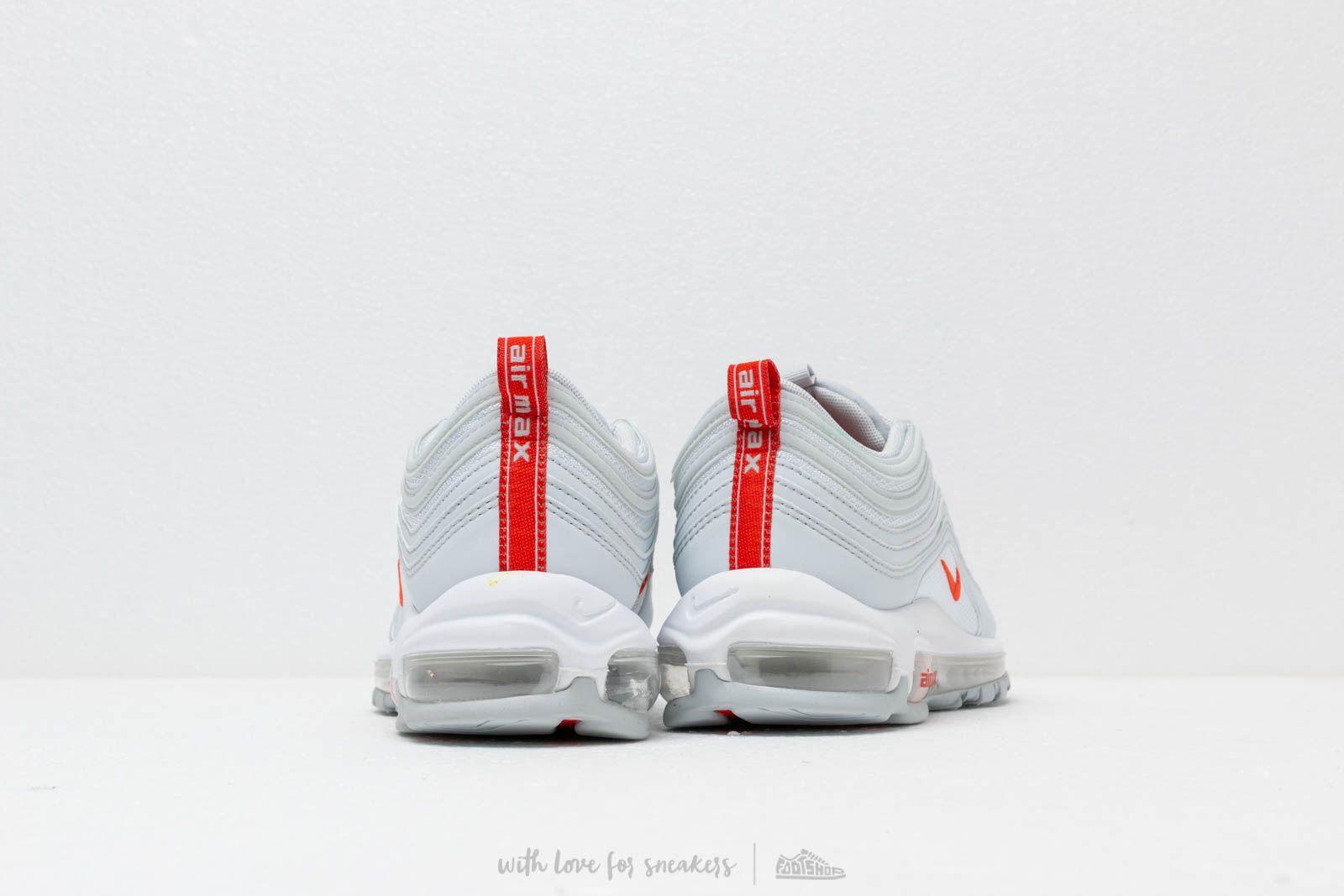 air max 97 - baskets basses - pure platinum/team orange
