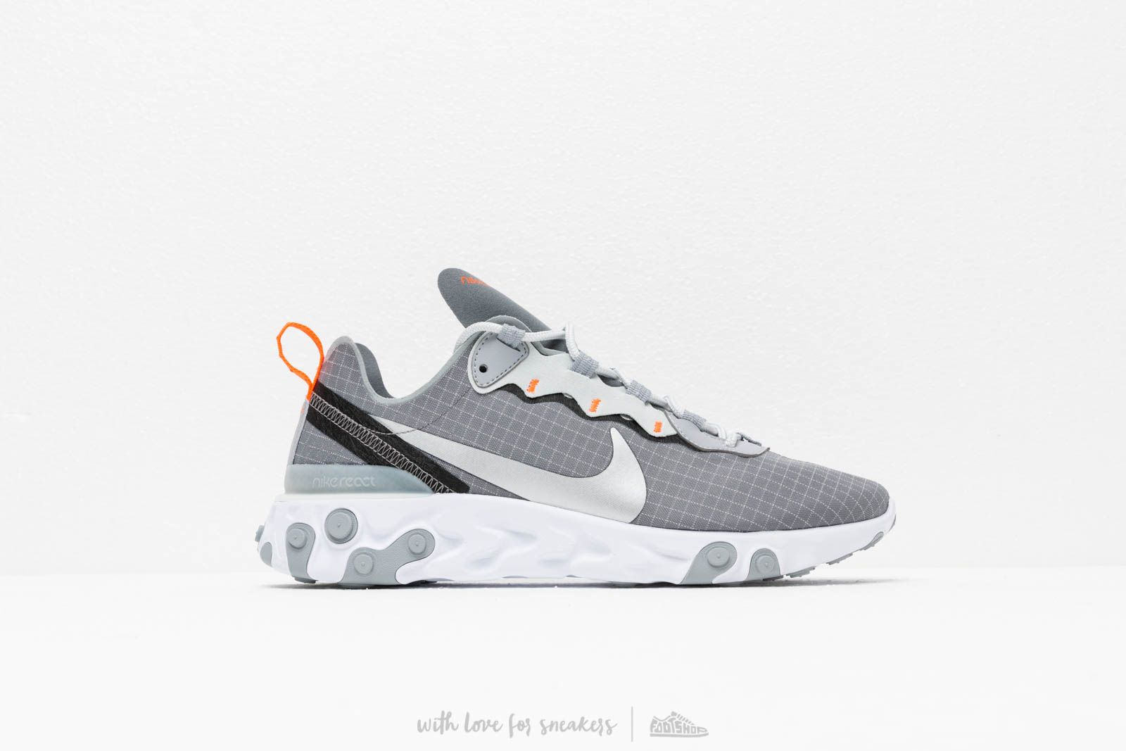 low priced aef92 ccf55 Nike React Element 55 Cool Grey  Metallic Silver-Hyper Crimson at a great  price