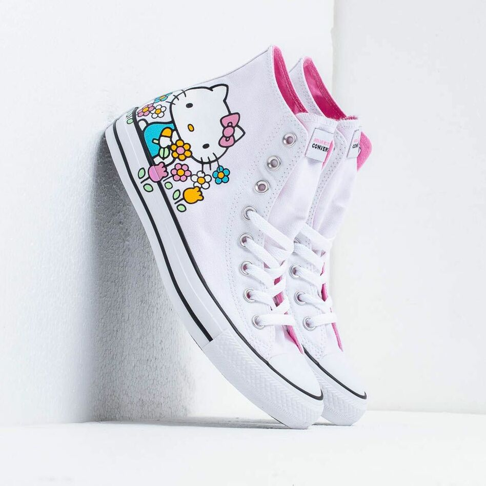 Converse x Hello Kitty Chuck Taylor All Star Hi White/ Pink/ White EUR 37.5