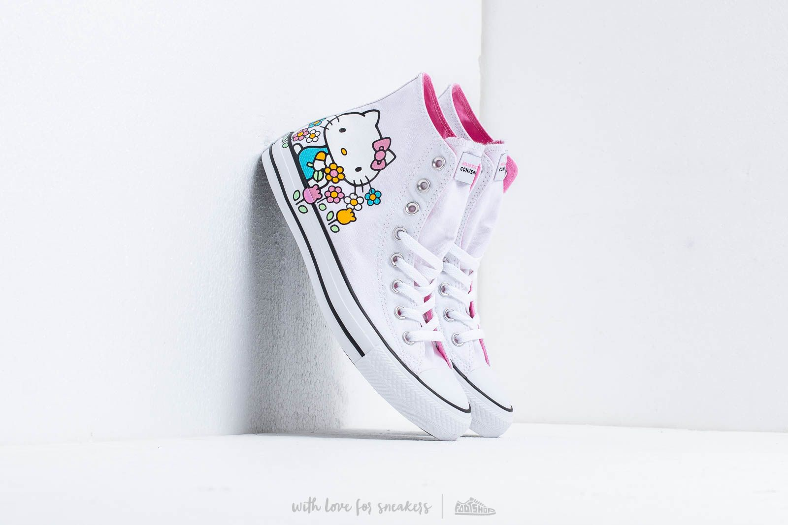 3d05b2bfc373ee Converse x Hello Kitty Chuck Taylor All Star Hi White  Pink  White at a