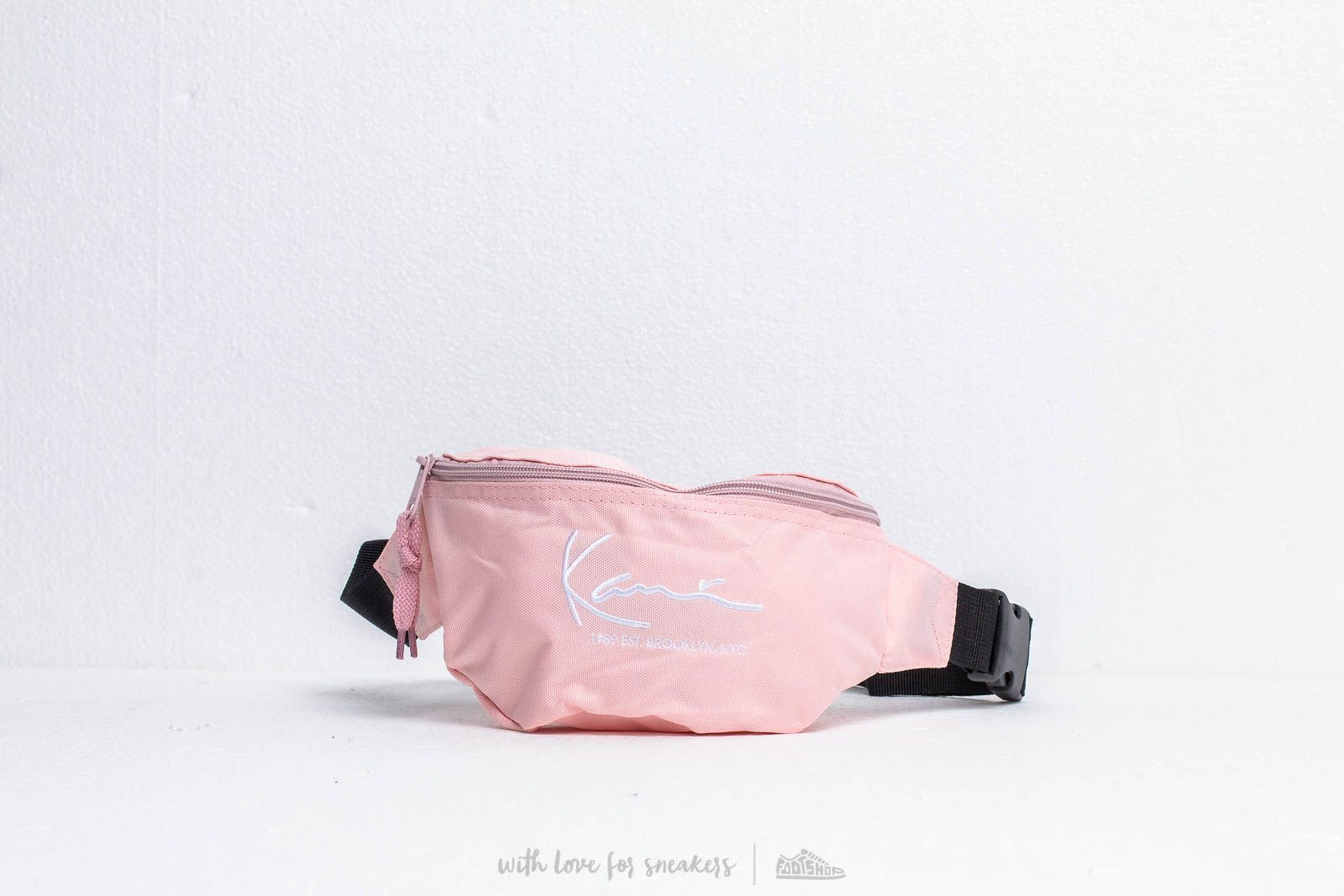 Karl Kani Signature Waist Bag Rose/ White