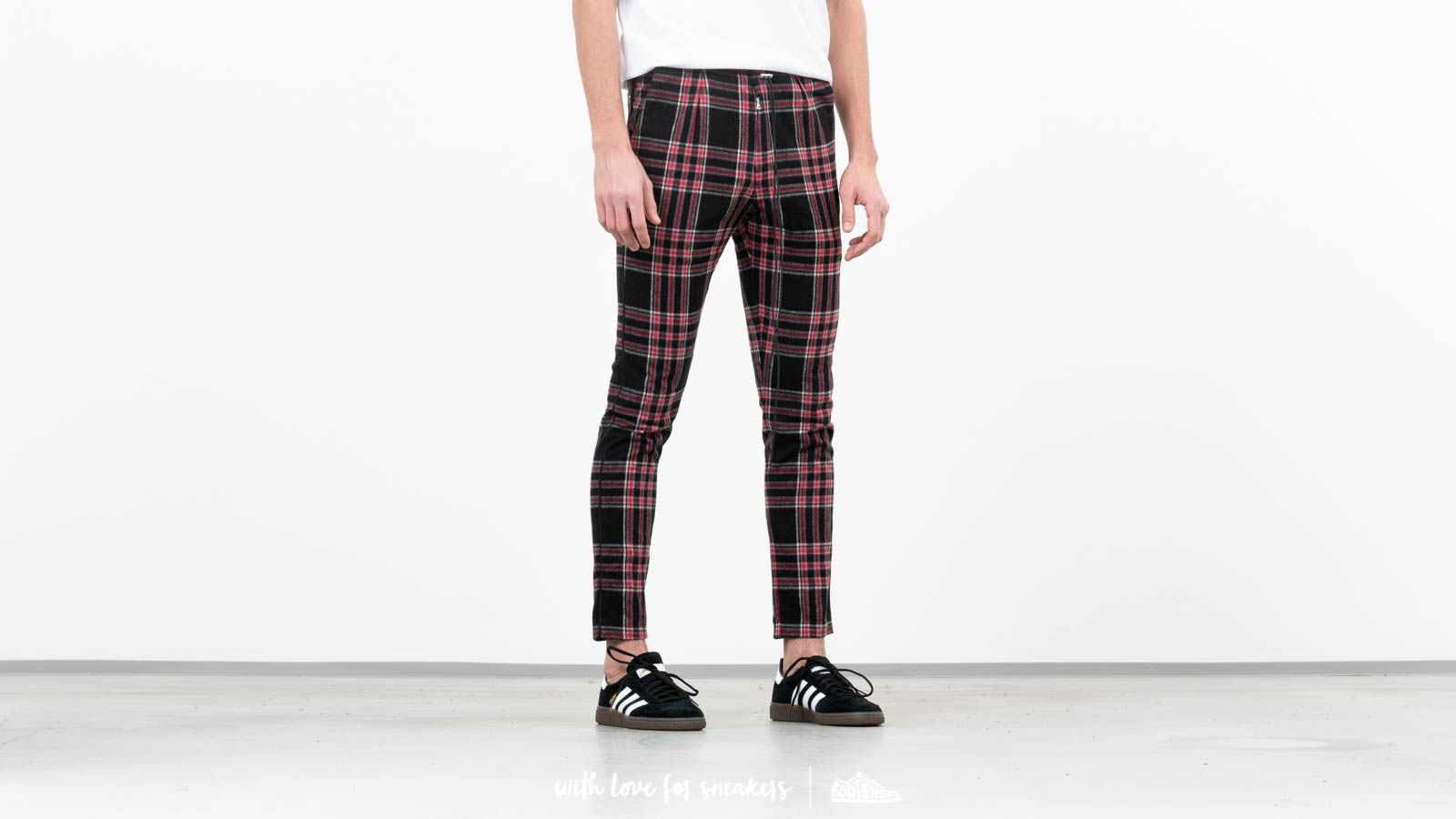 REPRESENT Smoking Pants Black Tartan