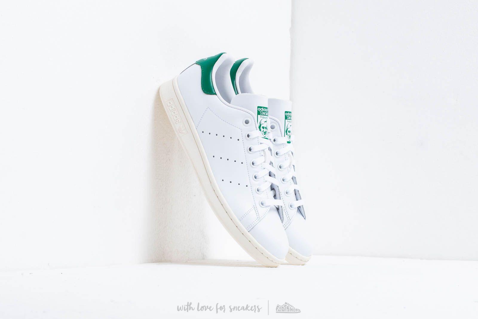 Încălțăminte și sneakerși pentru bărbați adidas Stan Smith Ftw White/ Off White/ Bgreen