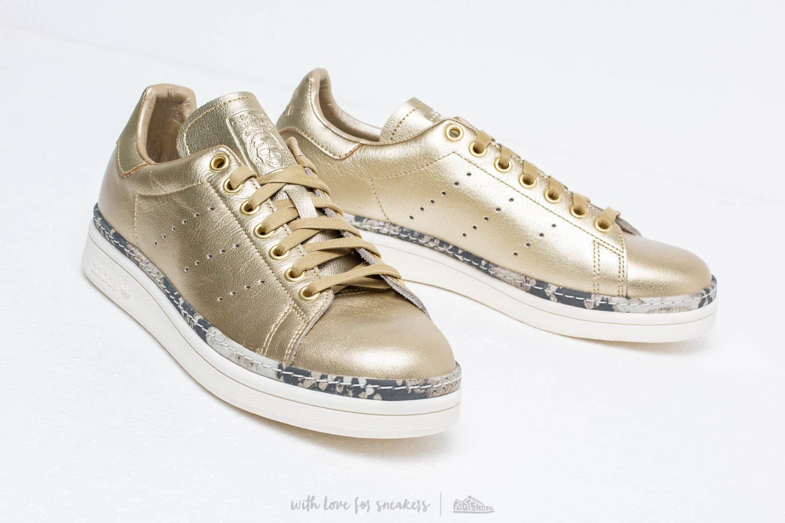 adidas Stan Smith New Bold W Gold Mate Gold Mate Off White | Footshop