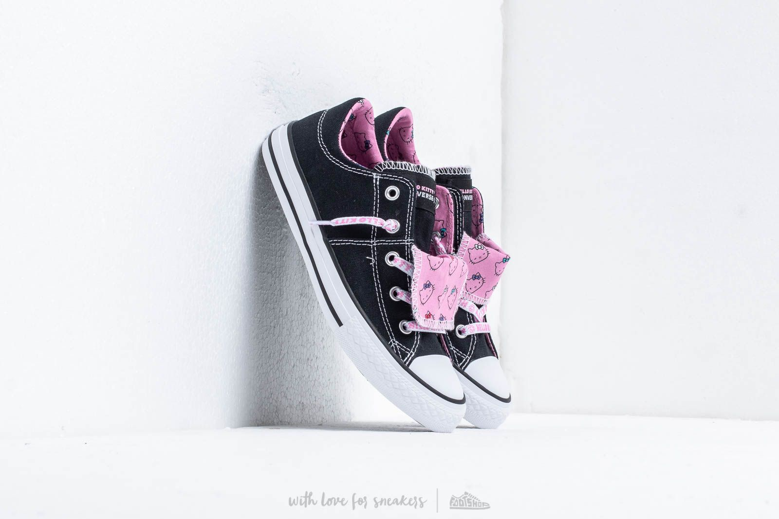 1ca6b59ae26efd Converse x Hello Kitty Maddie Black  Prism Pink  White at a great price 48