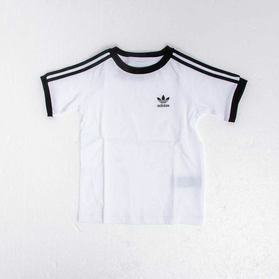 adidas 3 Stripes Tee White Black