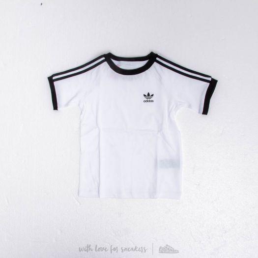 adidas 3 Stripes Tee White  Black  2635380df08