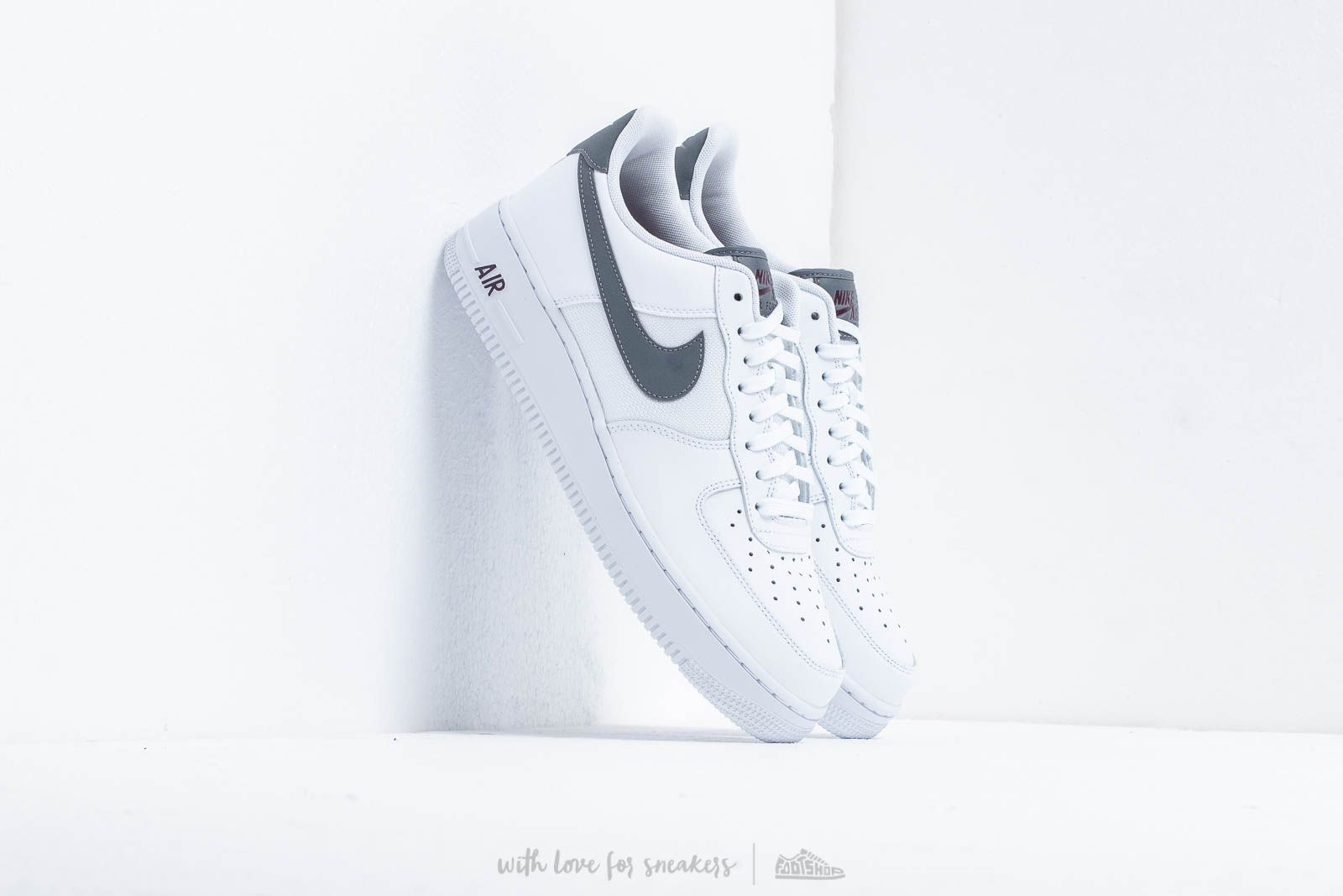 cheap for discount 0d99a 3d368 Nike Air Force 1 07 Lv8 White Cool Grey-Night Maroon at a