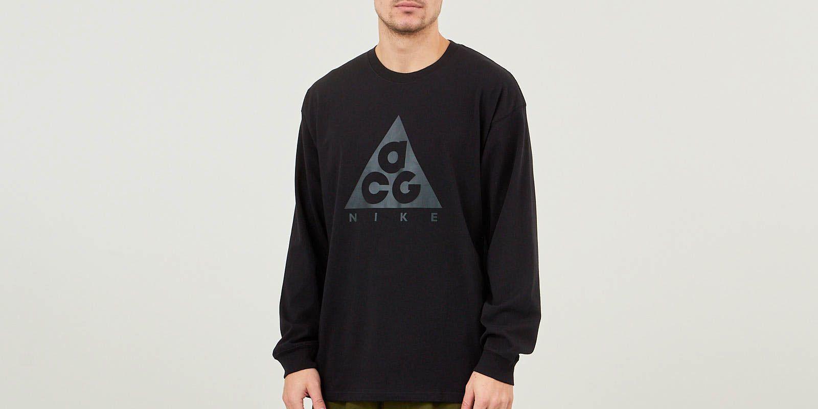 3dbd87acb Nike ACG Long-Sleeve T-Shirt - Black | BQ3457-010 | FOOTY.COM