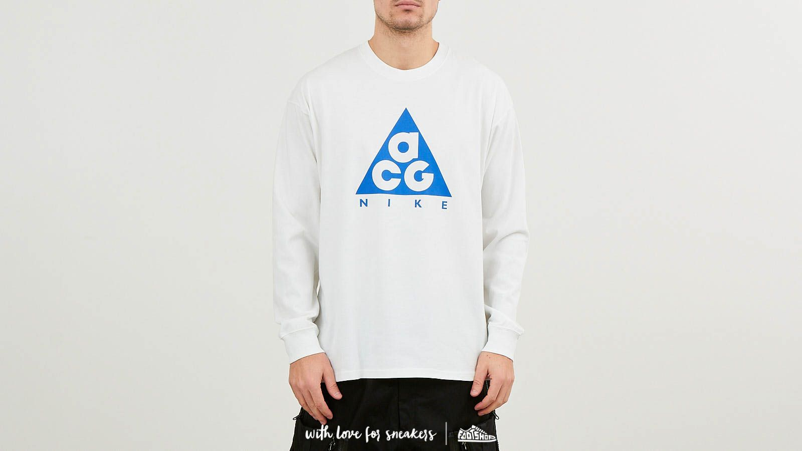 f90b1bef Nike ACG Long Sleeve Logo Tee NRG Summit White/ Racer Blue at a great price