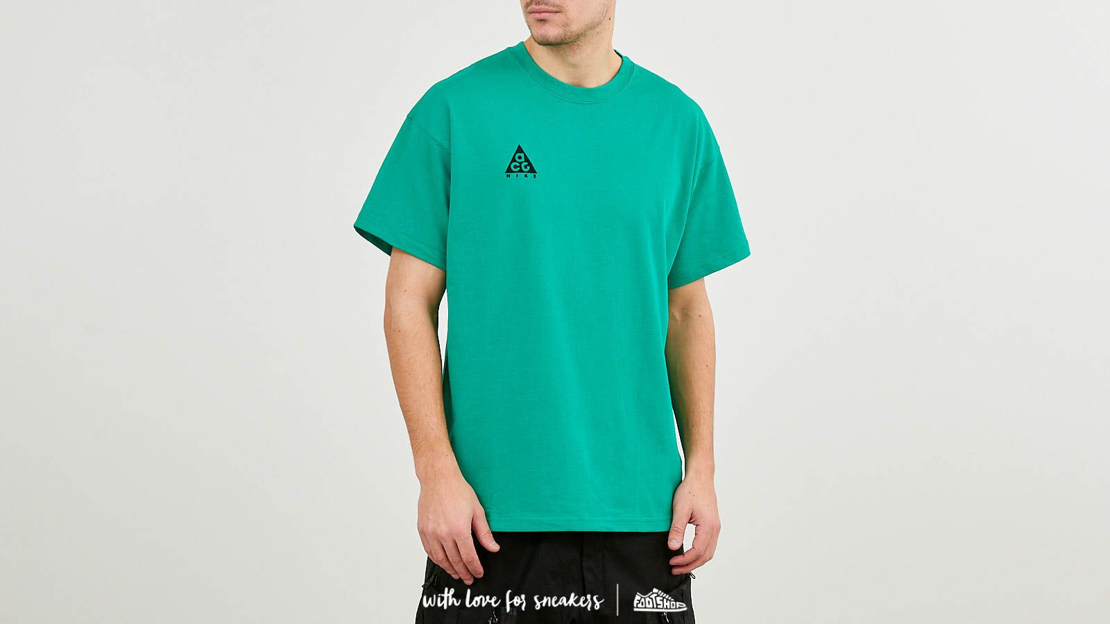 1a8147ee Nike ACG Logo Tee NRG Lucid Green/ Black at a great price $43 buy at