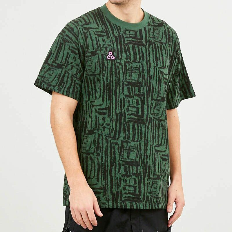 Nike ACG AOP Tee NRG Fir Green/ Black