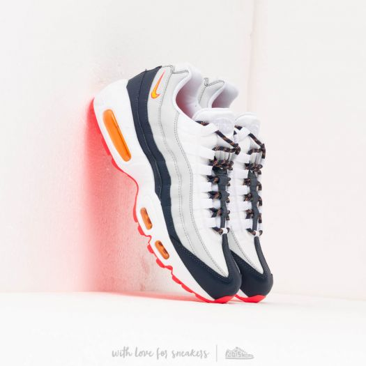 Nike Wmns Air Max 95 Midnight Navy Laser Orange Pure