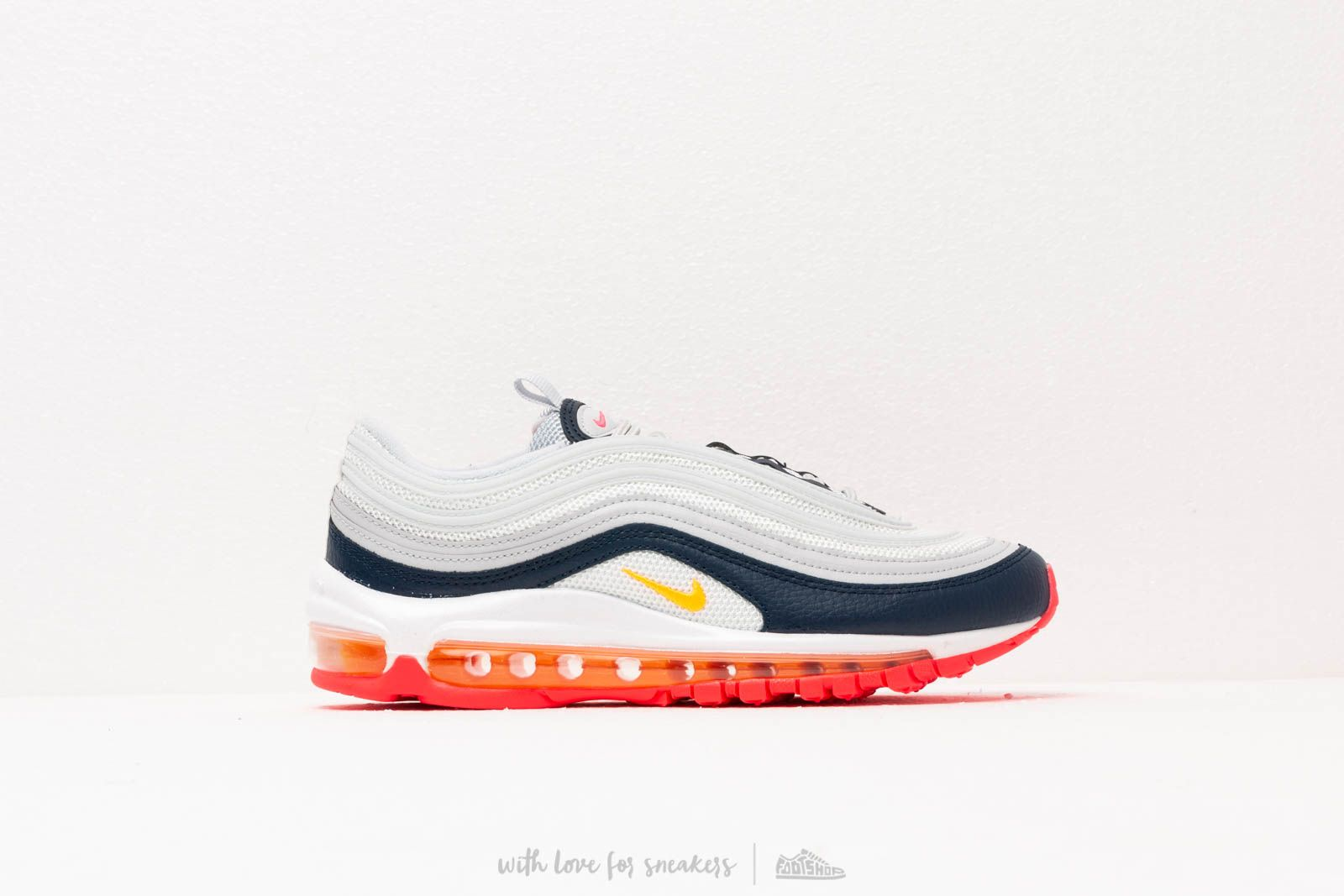 Nike W Air Max 97 Pure Platinum  Laser Orange-Midnight Navy at a great b5f6543ac