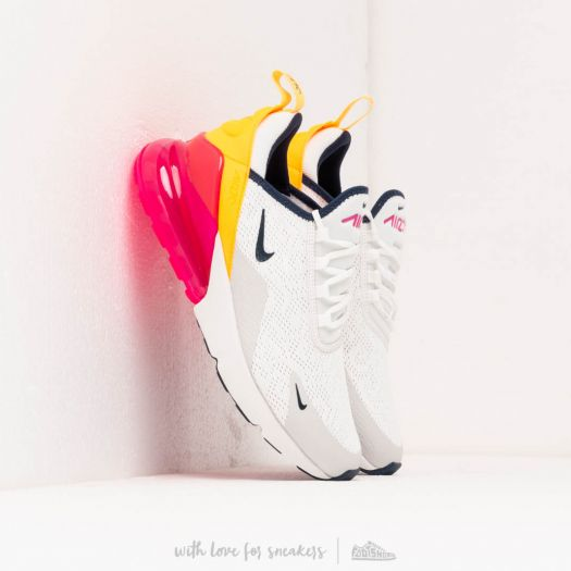 Nike W Air Max 270 Summit White Midnight Navy Laser Fuchsia | Footshop