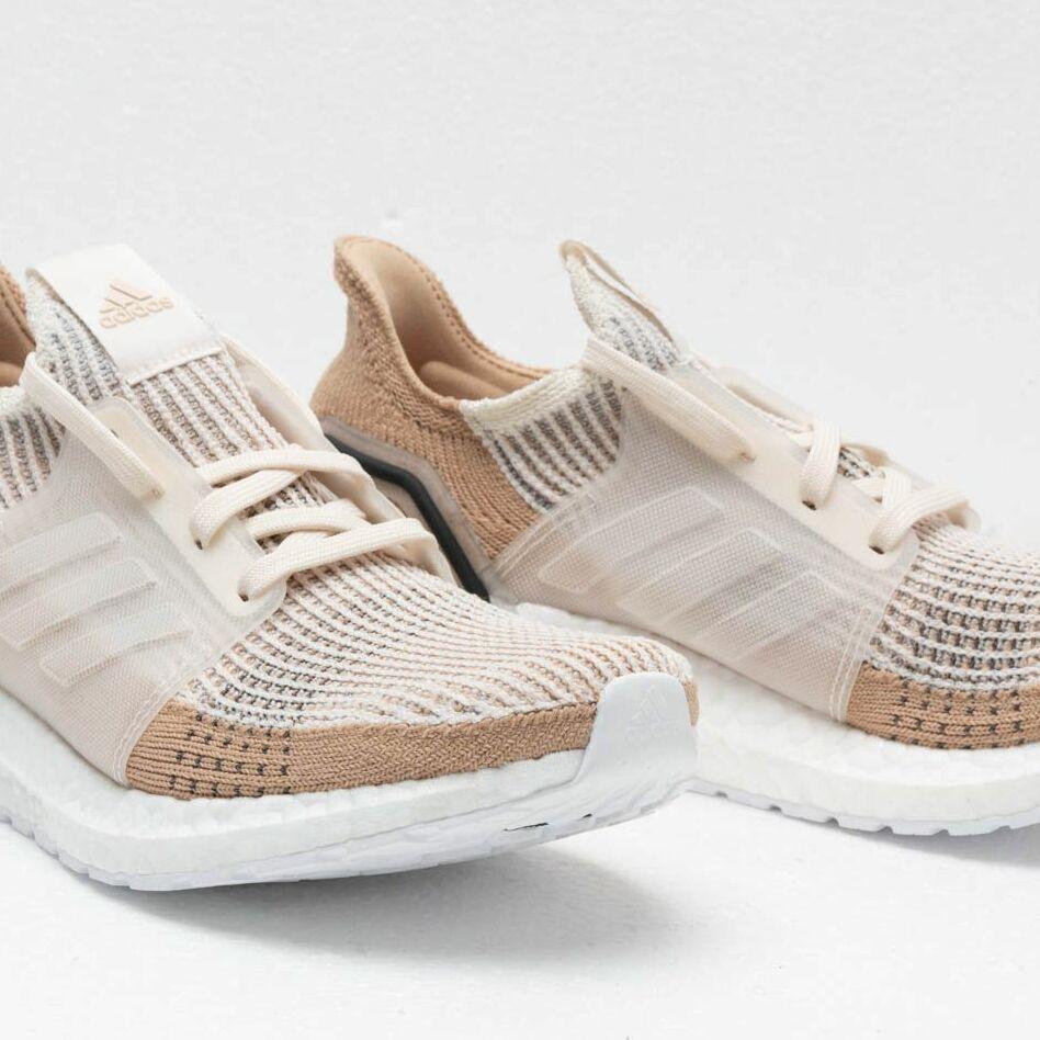 Womens Adidas UltraBoost 19 Shoes B75878 Chalk WhitePALE