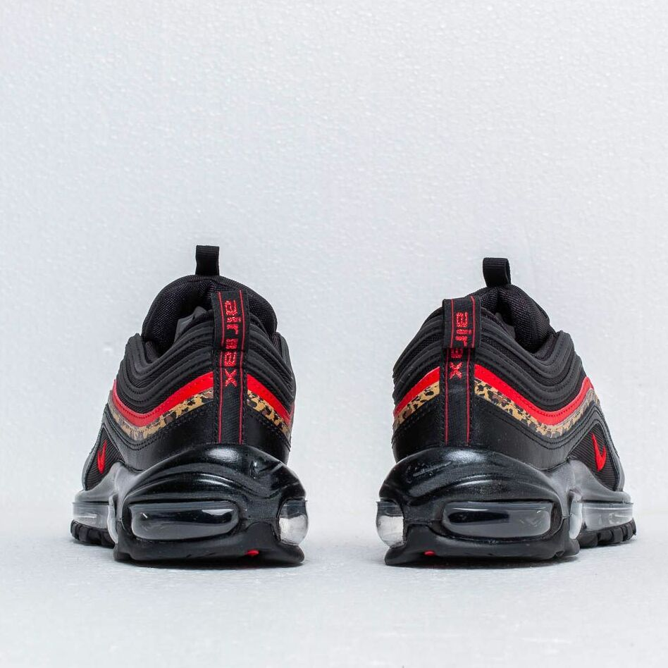 Nike W Air MAX 97 BlackUniversity Red Print Noir