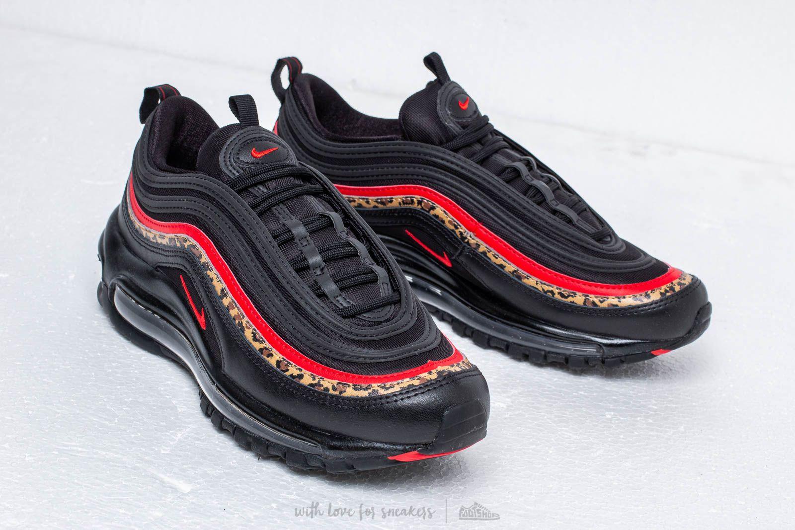 Nike W Air Max 97 University Red Print Black
