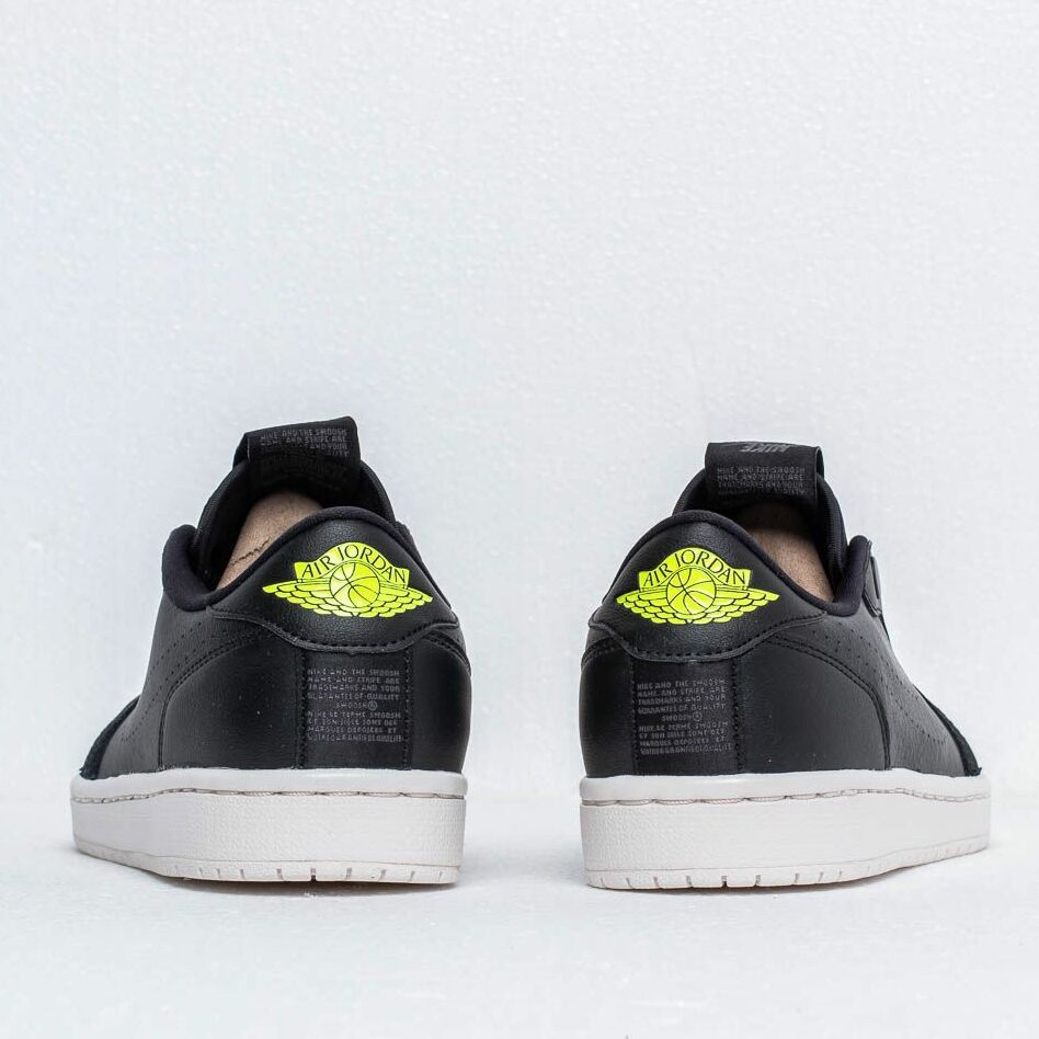 Air Jordan Wmns 1 Ret Low Slip Black/ Volt-Phantom-Silt Red