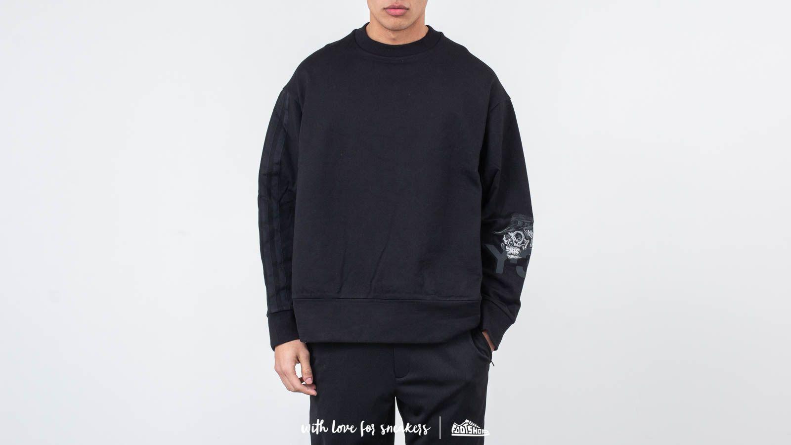 Sweatshirts Y-3 Yohji Skull Crewneck Black