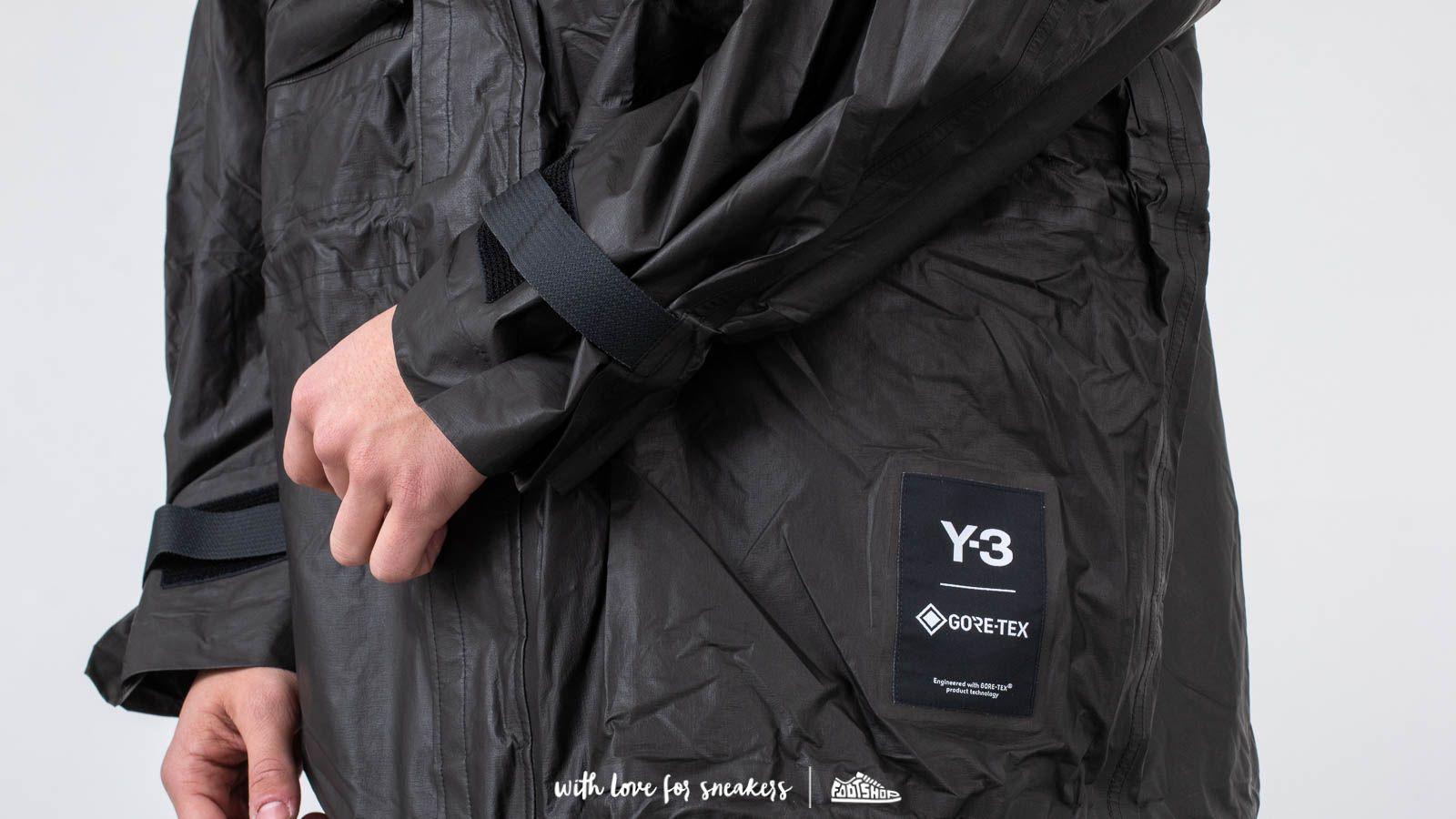 Y 3 Yohji Gore Tex Utility Jacket Black | Footshop