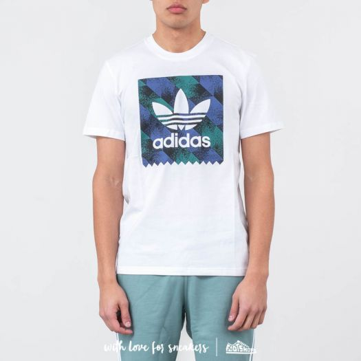 f29d33b6f2 adidas Towning BB Tee White/ Black/ Active Blue | Footshop