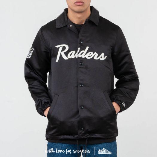 reputable site f13ad 31d7c New Era NFL Satin Coach Jacket Oakland Riders Black ...